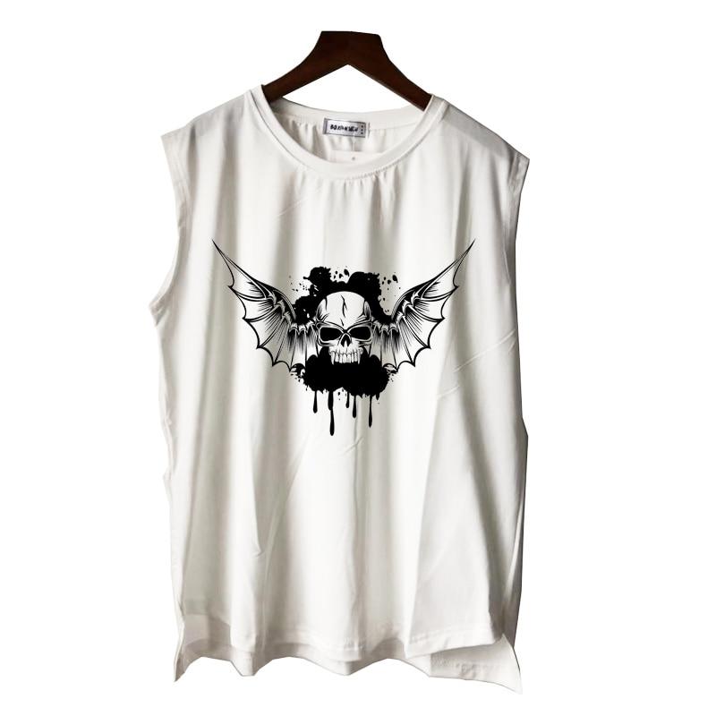 black heavy metal music rock skull poster print men women boy girl tank tops casual punk hip hop summer vest sleeveless tee