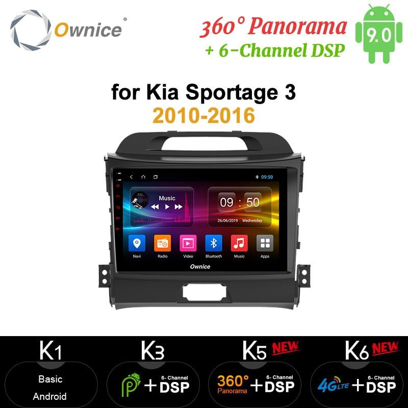 Ownice Android 9.0 360 Panorama 64G 4G autoradio 2din Navi GPS lecteur DSP 4G LTE SPDIF pour KIA KX5 Sportage 3 4 2010 - 2016