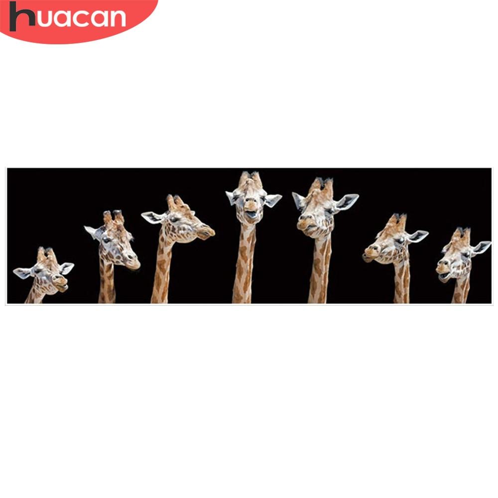 HUACAN 5d Diamant Malerei Giraffe Mit Quadrat Bohrer Diamant Stickerei Volle Set Diamant Mosaik Strass Bilder Handwerk Kit