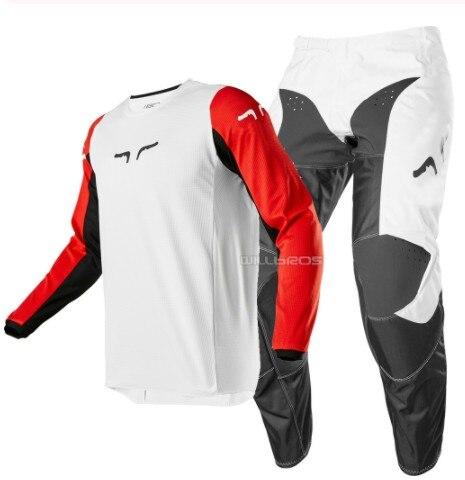 Nuevo rojo blanco negro zorro delicado MX MTB ATV carreras adulto 180 carrera Jersey pantalón motocicleta Motocross MTB Bike Suit