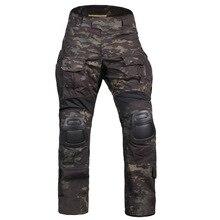 Hommes tactique Bdu G3 pantalons de Combat BDU militaire armée pantalon avec coussinets Multicam MCBK bleu chasse Camouflage
