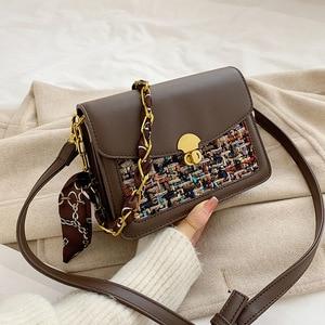 Woven Wool Handbags Women's Fashion Coin Purse Bags Patchwork Casual Crossbody Messenger Bags Shoulder Bag bolsa feminina