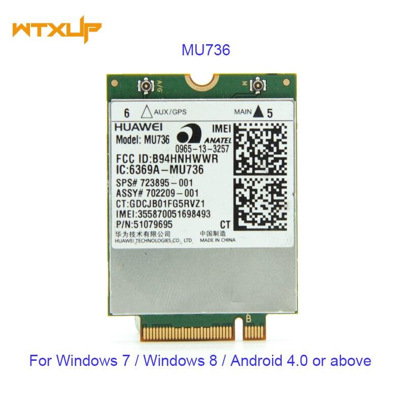 UNLOCKED HUAWEI MU736 LTE M.2 NGFF WWAN Card WCDMA/HSP/HSPA+/EDGE/GPRS/GSM 3G 4G Module