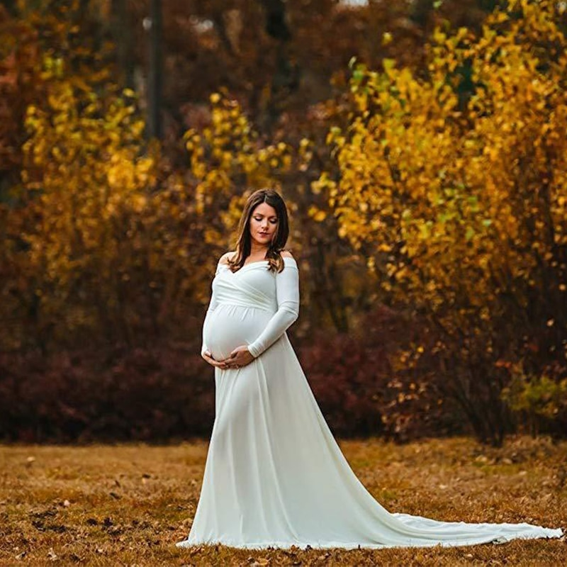 Maternity Dresses For Photo Shoot Maternity Photography Props Pregnancy Dress Photography Maxi Dresses Gown Pregnant Clothes enlarge