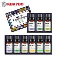 KBAYBO     huiles essentielles pour diffuseur daromatherapie  humidificateur  saveur de plante domestique  lavande  arbre a the  citronnelle  romarin  Orange  lys