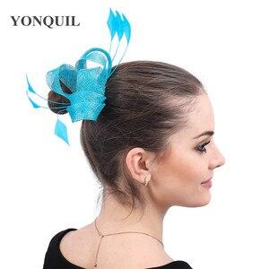 Fashion Sinamay Wedding Headwear For Elegant Women Ladies Formal Hair Accessories Bride New Chic Party Dinner Headdress Hair Pin