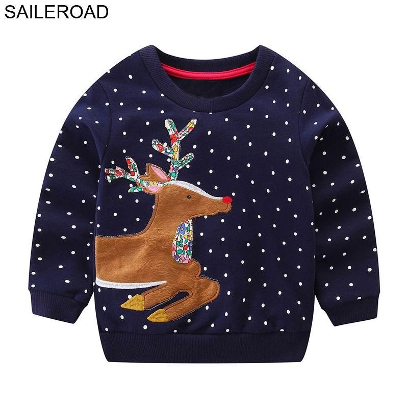 SAILEROAD 2 a 7 años Suéter Reno Suéteres de dibujos animados para niñas recién nacidas 2019 Traje de Navidad Niños Niñas Ropa Invierno