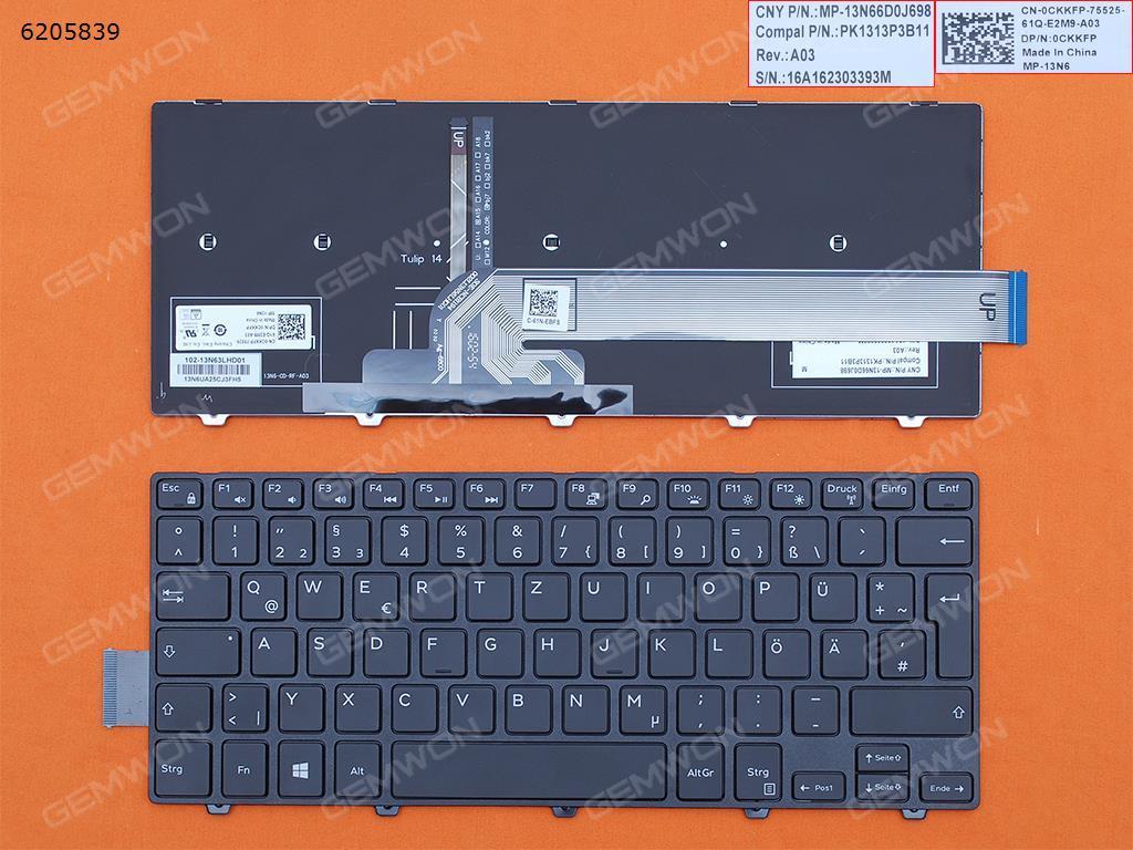الألمانية QWERTZ لوحة المفاتيح الجديدة لديل انسبايرون 14 5442 5445 5447 5448 5451 5455 5458 7447 5452 5457 5459 5443 كمبيوتر محمول مع الخلفية