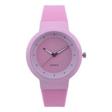 Watches For Women Fashion Silicone Band Female Clock Analog Quartz Round Wrist Watch Student Sport W