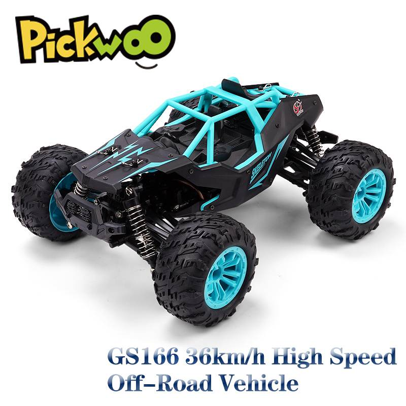 GS166 RC Car 1:14 4WD 2.4Ghz Alloy 36km/h Climbing Remote Control Car Off Road Crawler Vehicles Model RTR Toys for Children 1 12 mn 90k rc crawler car 2 4g 4wd remote control big foot off road crawler military vehicle model rtr remote control truck toy
