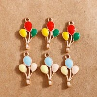 10pcs 1323mm enamel colorful lucky charms balloon pendants for jewelry making handmade charms for bracelets necklaces findings