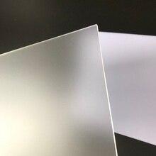 Feuille acrylique givrée 150x150mm   pmma mat épaisseur 2mm à 8mm