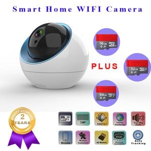 WIFI camera 1080P wireless support H.264 infrared 3.6mm lens Onvif Cloud TF card automatic tracking storage for home security ca