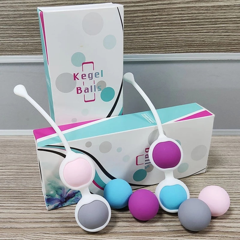 Silicone Kegel Balls Set Geisha Ben Wa Vaginal Balls Vagina Tightening Exerciser Built-in metal ball intimate Sex Toy for women