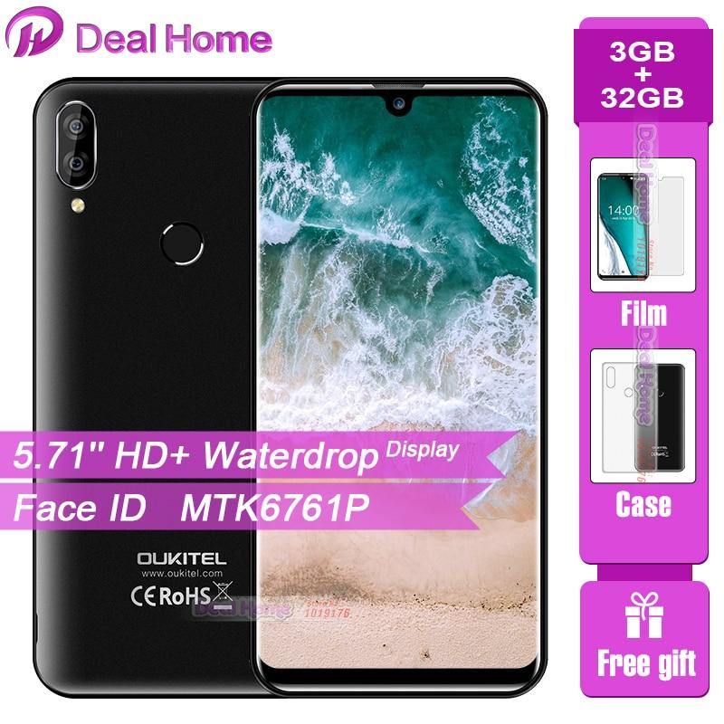"Oukitel C16 Pro 5.71"" Waterdrop Screen Smartphone 3GB 32GB MTK6761P Quad Core Face ID Fingerprint 2600mAh 4G LTE Mobile Phone"