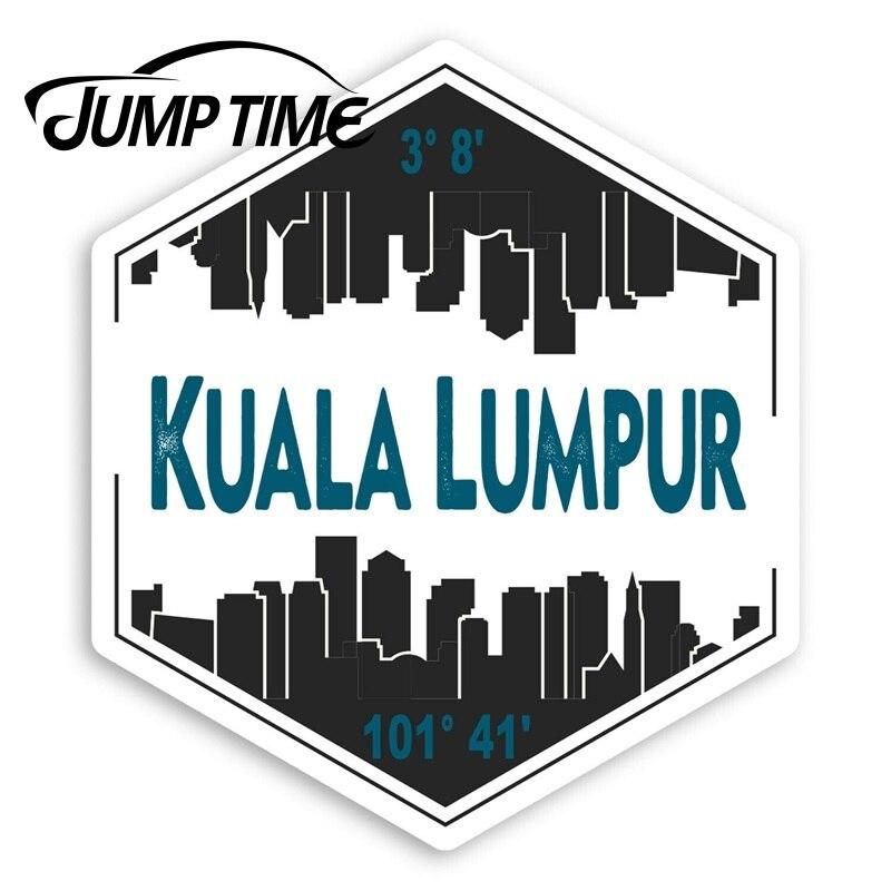 Pegatinas de vinilo de Jump Time para ciudad de Malasia, pegatina de viaje impermeable para equipaje, calcomanía de coche, accesorios para maletero o coche