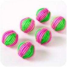 6pcs Magic Hair Removal Laundry Ball Dirty Fiber Collector Washing Machine Grabs Fuzz Hair Ball Clot