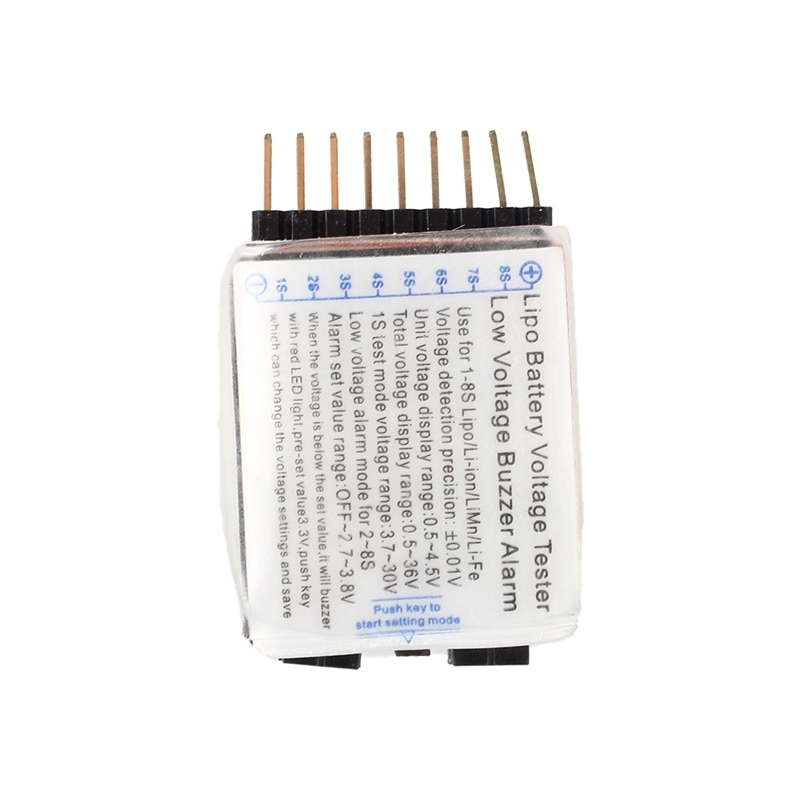 1S-8S Lipo batterie basse tension testeur Test voltmètre test moniteur Buzzer alarme indicateur