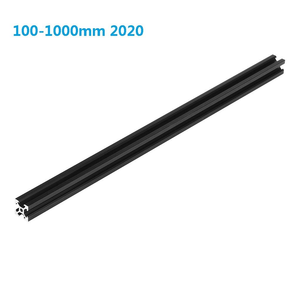 Черный 100-1000 мм 2020 V-Slot алюминиевый профиль экструзионная рама для лазерный гравировальный станок с ЧПУ 3D принтер камера слайдер мебель