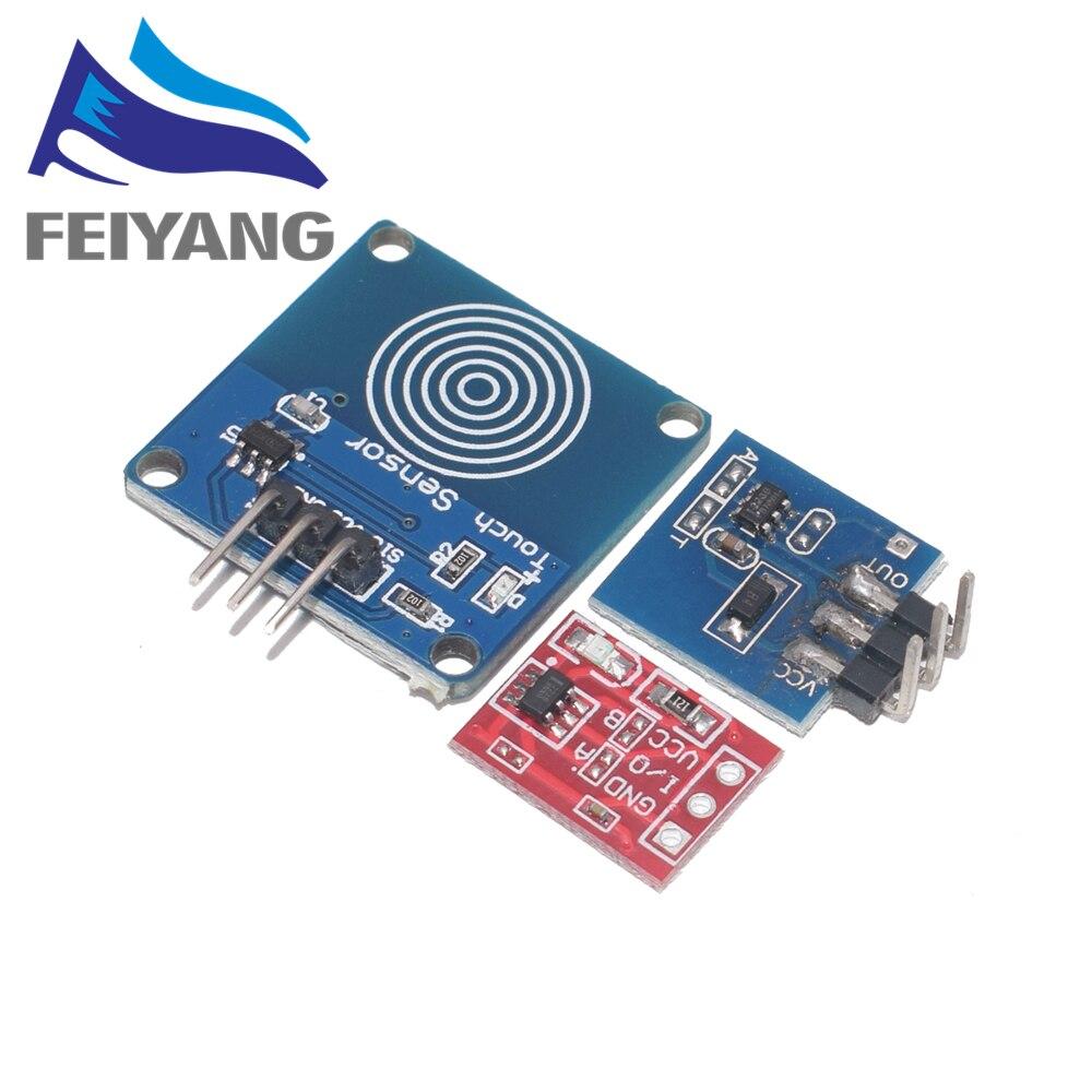 10 шт. TTP223 сенсорный кнопочный модуль Конденсатор Тип одноканальный самоблокирующийся сенсорный переключатель датчик (hong)
