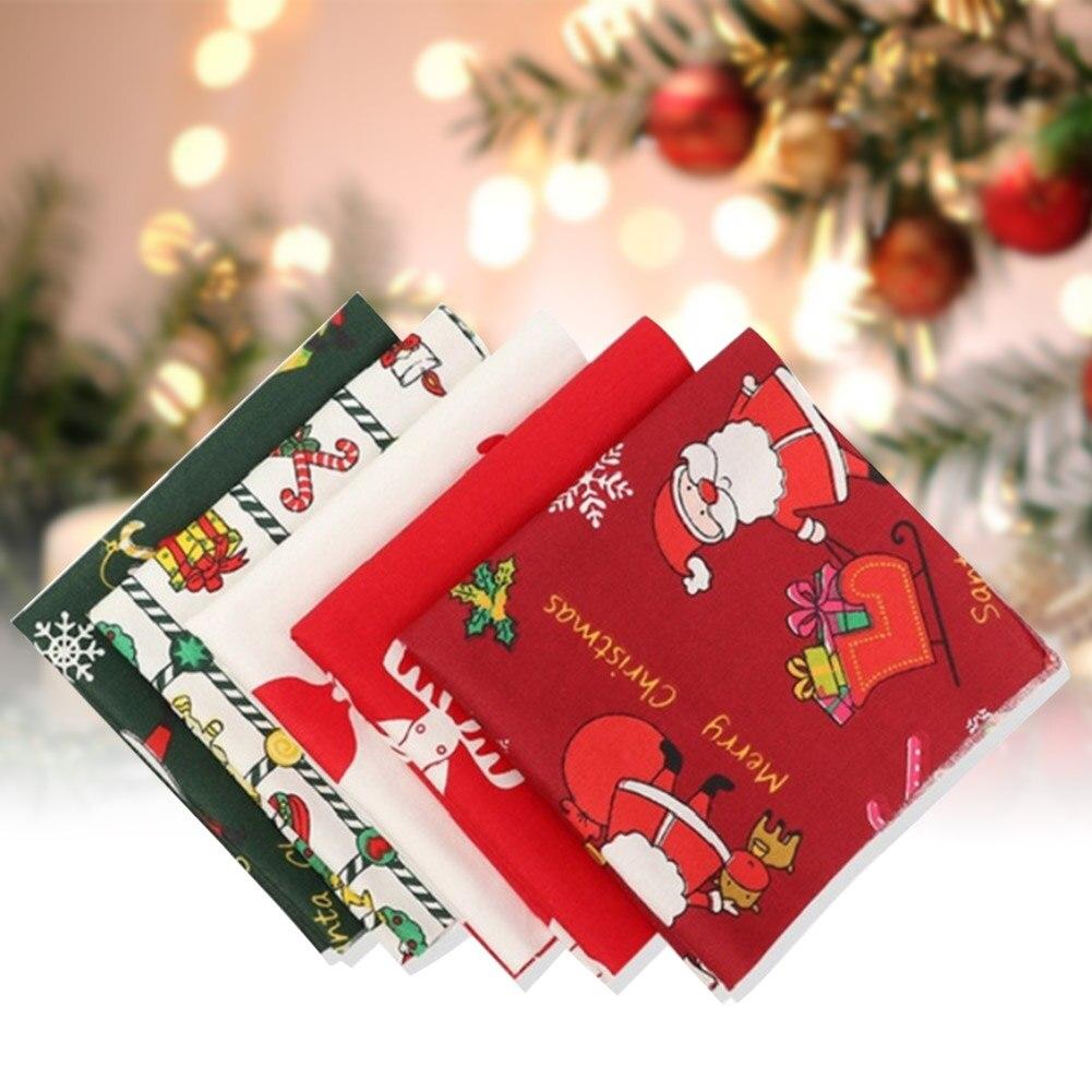 Tejido para coser Patchwork costura acolchado tela artesanía textil para el hogar DIY ropa de muñecas de Pre-corte multipropósito de la serie de Navidad