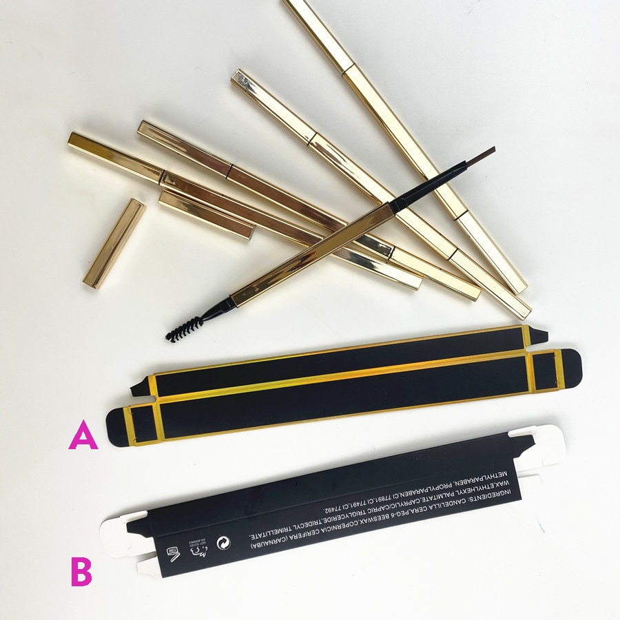 Gold Eyebrow Pencils Slim Waterproof Private Label Eyebrow Pen Thin Eye Brow Pencil Private Label Custom Eyebrow Tint Makeup