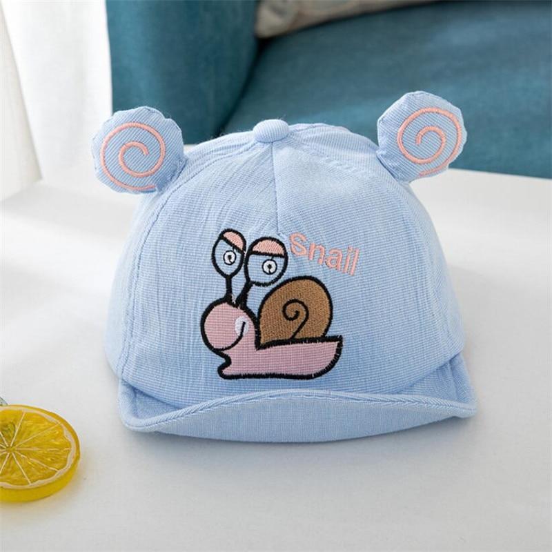Kids Soft Brim Cotton Hats Girl Boy Adjustable Cartoon printed Baseball Hat 2020 New Spring Autumn Baby Ears Cap 6-24M