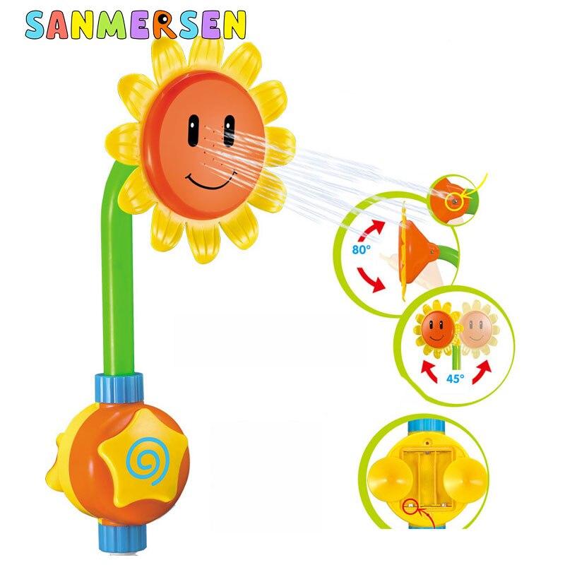 Детская забавная водяная игра, игрушка для ванны, ванна для купания, Электрический Подсолнух, смеситель для душа, спрей для воды, для плавани...