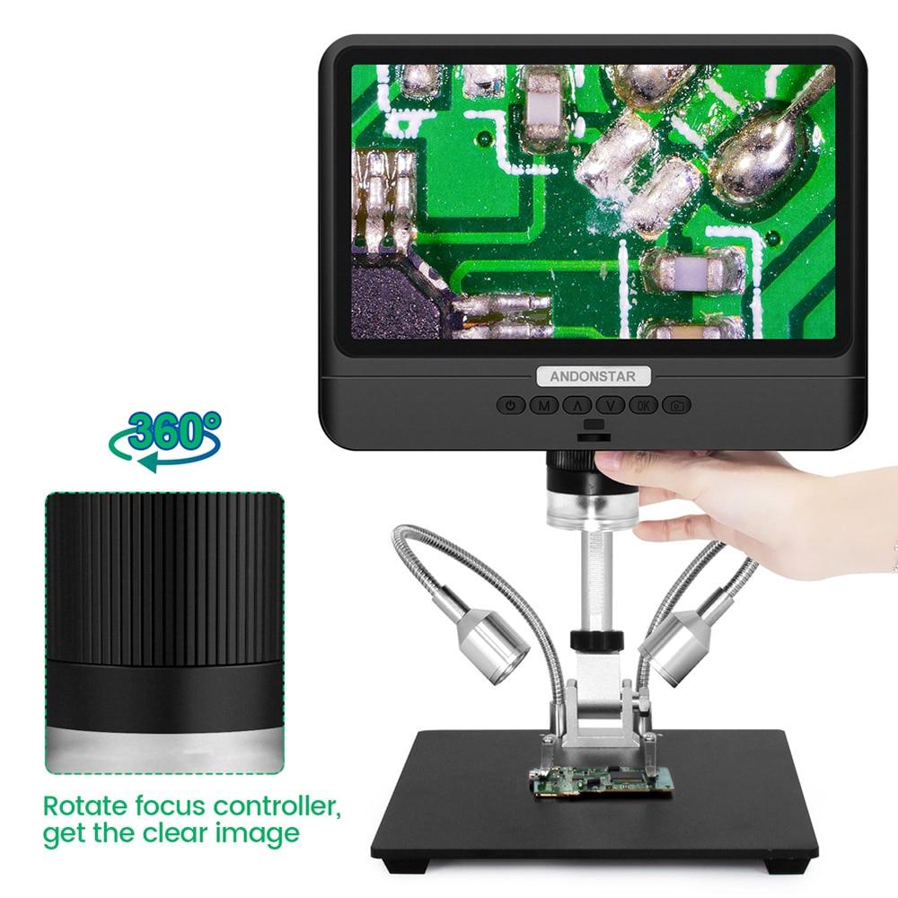 Andonstar 8.5 بوصة المجهر 1080P قابل للتعديل شاشة الكريستال السائل المجهر لحام الصيانة الصناعية الأدوات البصرية