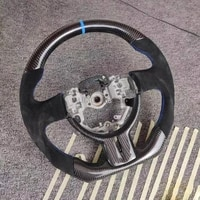 compatible for subaru brz toyota 86 racing cuatomized real carbon fiber sports steering wheel alcantara leather