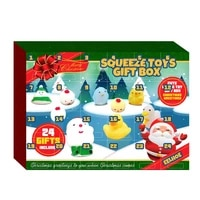 24pcsset christmas countdown calendar toy christmas advent calendar decompression squeezing toy for children and teenagers