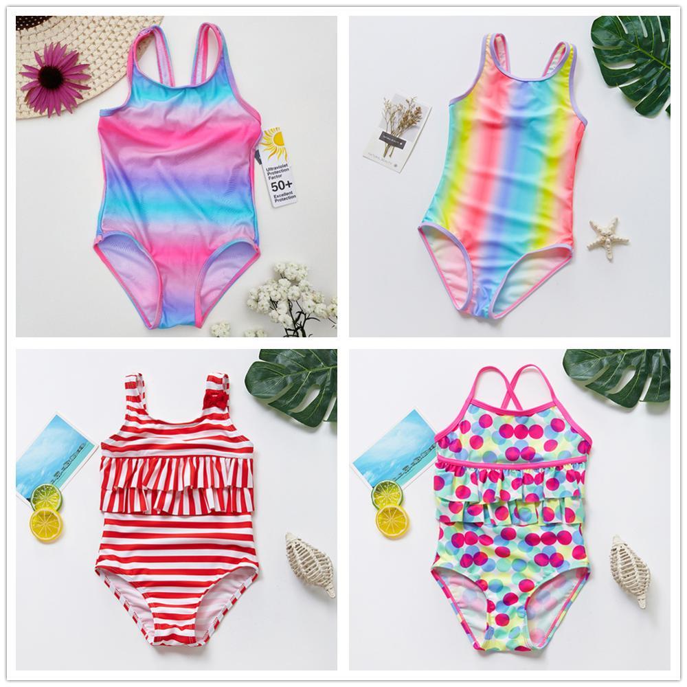2020 NEW Girls Swimwear 2~13Years Children Swimsuit One Piece Girls Swimsuit Kid girls Bathing suit Beach wear