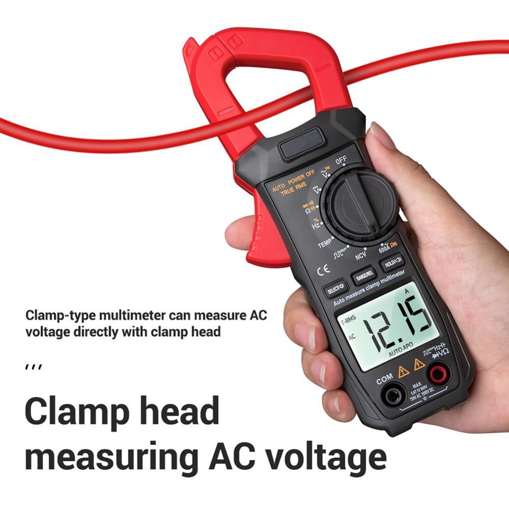 مقياس متعدد رقمي ST209 ، 6000 عد ، True RMS Amp DC/AC ، أداة قياس التيار ، الفولتميتر ، 400 فولت