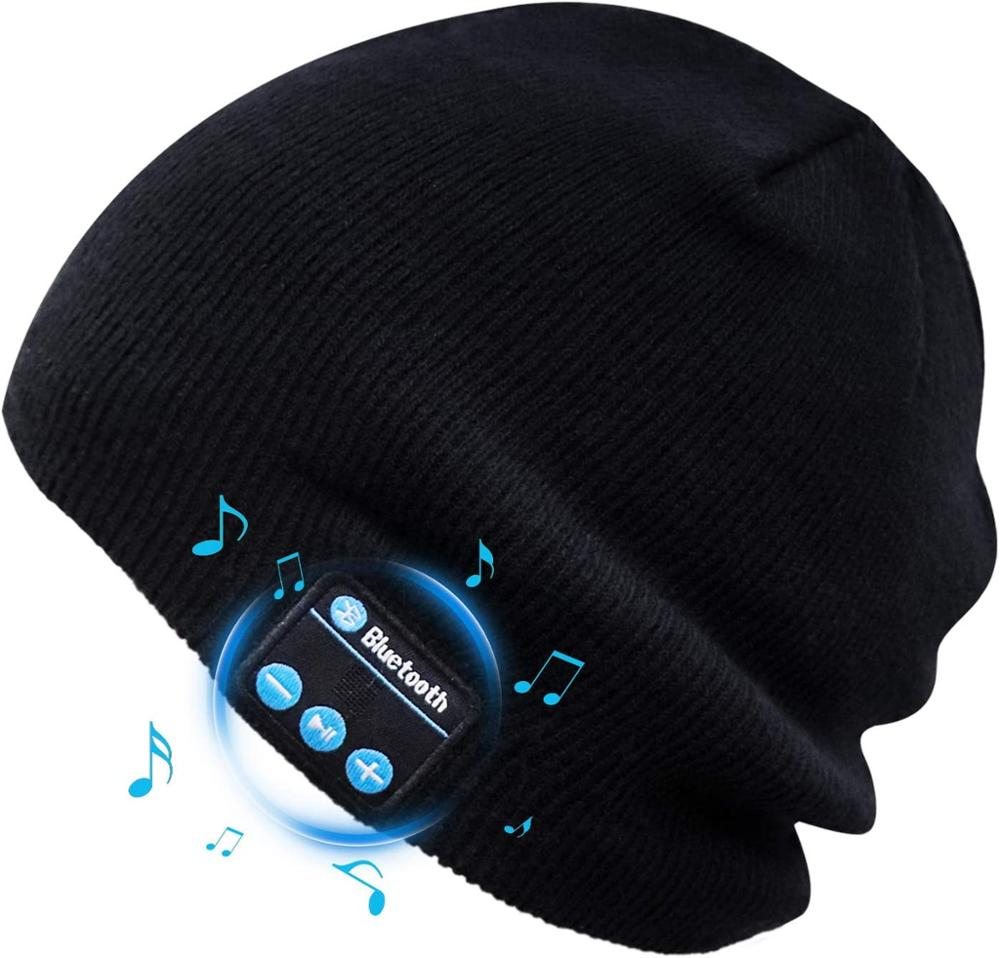 Bluetooth Beanie Wireless Headphone Hat Music Soft Hat with Stereo Speakers Hat Wireless for Men Women Sports Fitness Gifts