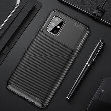 Pour Samsung Galaxy A71 étui de luxe en Fiber de carbone couverture antichoc téléphone étui pour Samsung A 71 couverture mat pare-chocs mince coque flexible