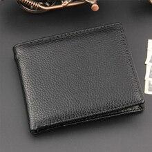 Cartera práctica de regalo tarjetero portátil moneda clásica bolsillo billetera plegable de hombre Slim Casual Simple PU cuero