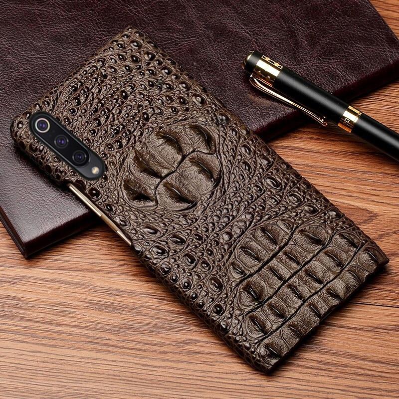 Flip Phone Case For Xiaomi Redmi Note 7 8 4 4X 5 6 Pro For Mi 8 9 lite se 9T A1 A2 A3 lite Max 2 3 Y3 Poco F1 Crocodile Head