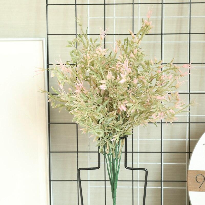 Decoración de la Oficina del hogar DIY hierba Artificial de agua Rosa flor Artificial de la planta de plástico para la decoración del Partido de la familia de la boda planta en maceta