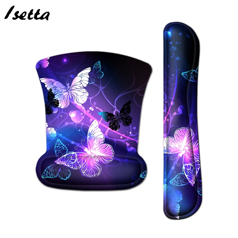 Wrist Mouse Pad  Keyboard Rubber Mouse Pad Wrist Rest Table Computer Mat  Custom Mouse Pad custom original night and cat nature series mouse pad