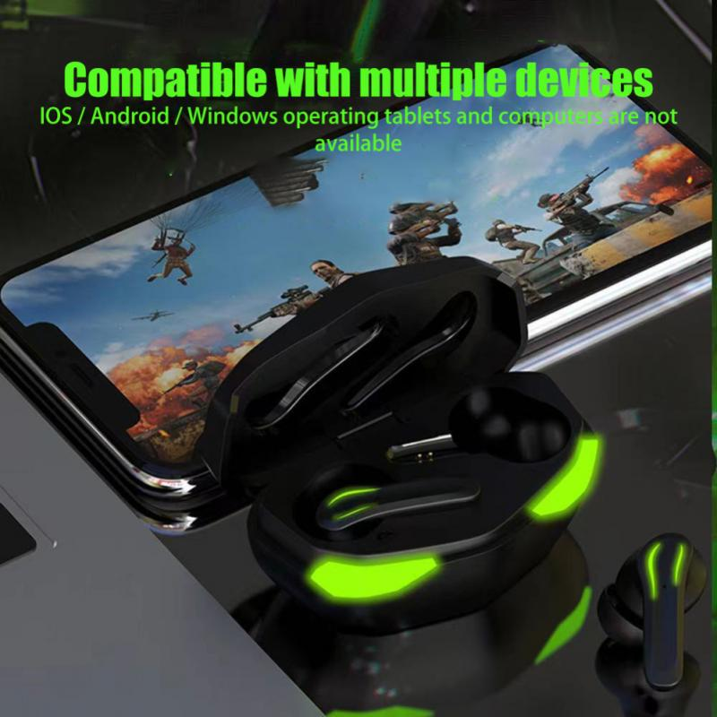 TCV-35 New Style TWS Touch Terror Eyes Wireless Bluetooth-compatible 5.2 In-ear Type No Delay Game Headset Stereo Music Headphon