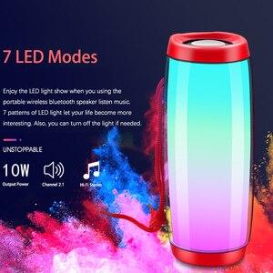 Мощный портативный динамик s, Bluetooth колонка, Беспроводная колонка, светодиодный ночник, светильник, tf-карта, fm-радио, встроенный микрофон