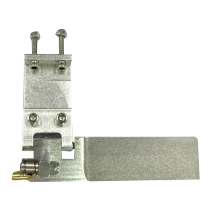 RC Barco de aleación de aluminio marca 75mm Metal de succión timón para agua para Control remoto RC barcos CNC piezas de plata