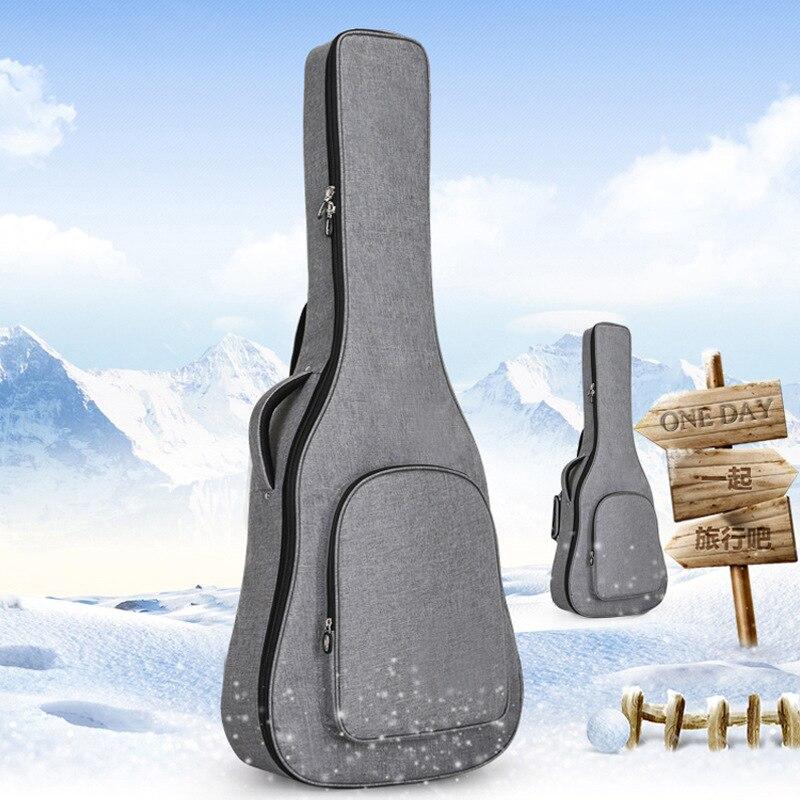 New Linen Guitar Bag 40 41 Inch Folk Guitar Bag Upright Thick Guitar Case Backpack Thicken Pad Oxford Backpack Funda Guitar