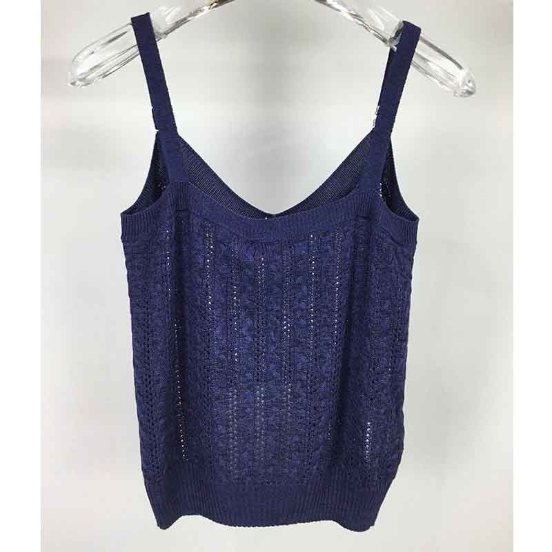 Knitted Tank Sexy Tops Women Camisole Vest Gold Thread Vest Stretchable Slim Lady Wear Casual Camis