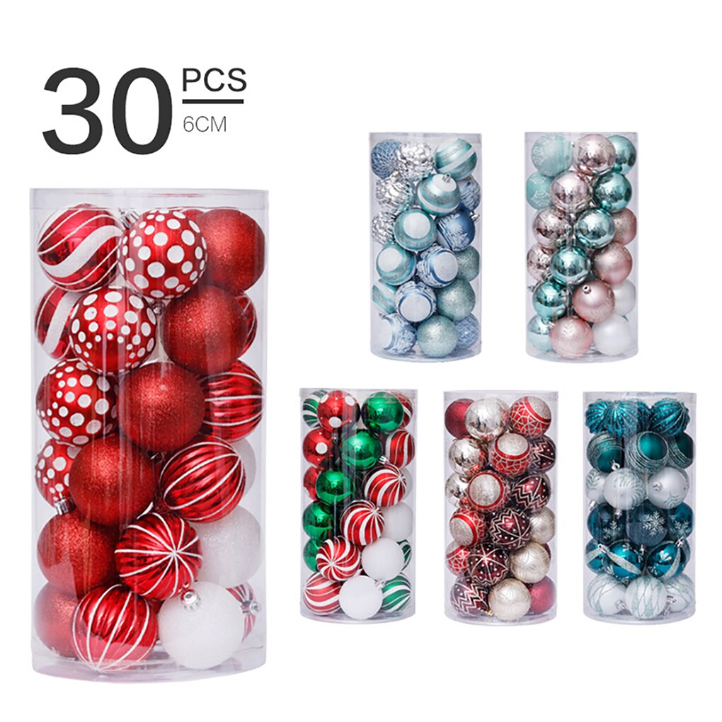 30pcs 3cm Christmas Tree Ball Bauble Home Office Hotel Decoration Christmas Tree Hanging Plastic Ball Ornament 2020