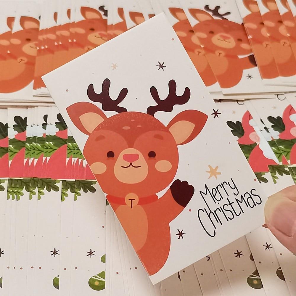 50 шт. 9 см * 5,4 см поздравительные открытки на Рождество, Новый Год, праздничные подарочные открытки, пакет для малого бизнеса