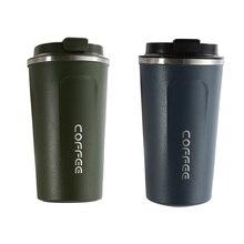 2x510ML conservation de la chaleur tasse à café en acier inoxydable tasse café lait tasse vide flacons Thermo tasse vert et bleu