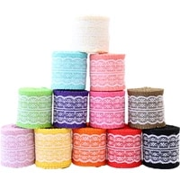 6cm colored burlap roll clothing shoes and hats decorative accessories multicolor lace and linen lace