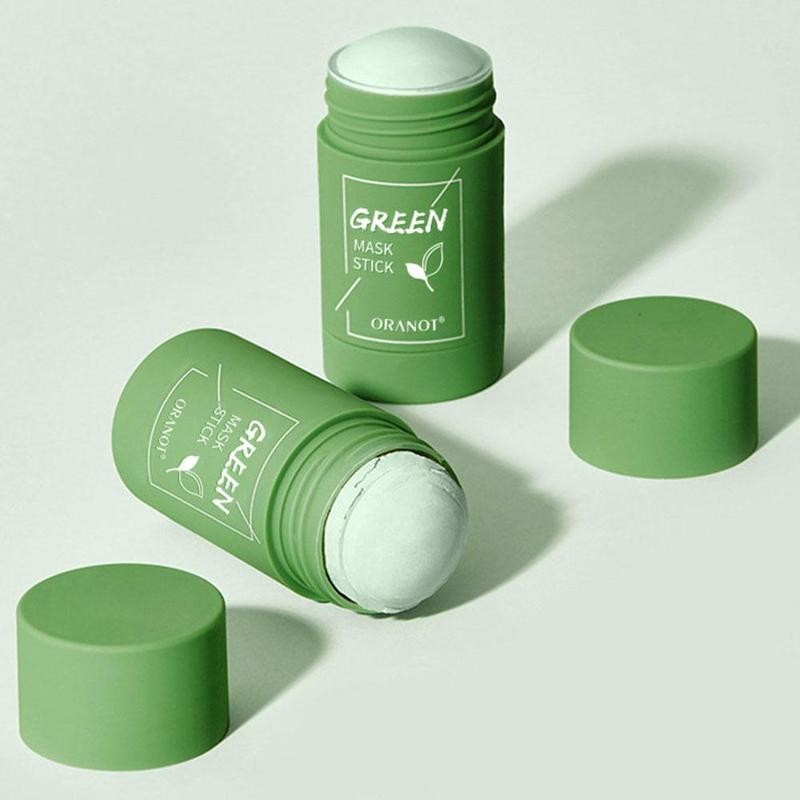 Cleansing Green Stick Green Tea Mask Purifying Clay Stick Mask Oil Control Anti-acne Eggplant Whitening
