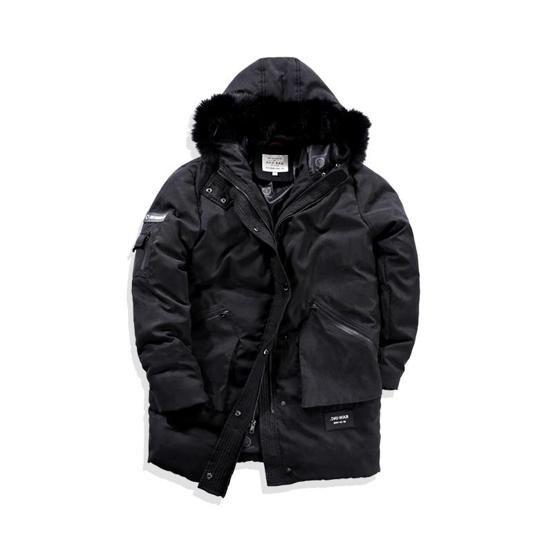 Abrigo de invierno para hombre, de talla grande, chaqueta, para hombre, 90% pato blanco, abrigo, parka cálida coreana para hombre Y7003